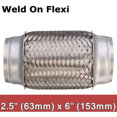 """main image of """"Weld on Exhaust Flexi Pipe Flexible Joint Repair Pipe Flex Tube 2.5x 6 inch 6.3cm x 15.3cm"""""""