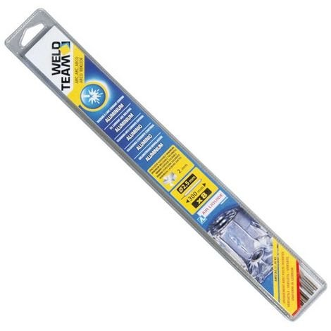 WELD TEAM - Electrode aluminium - D: 2.5 mm - lot de 8