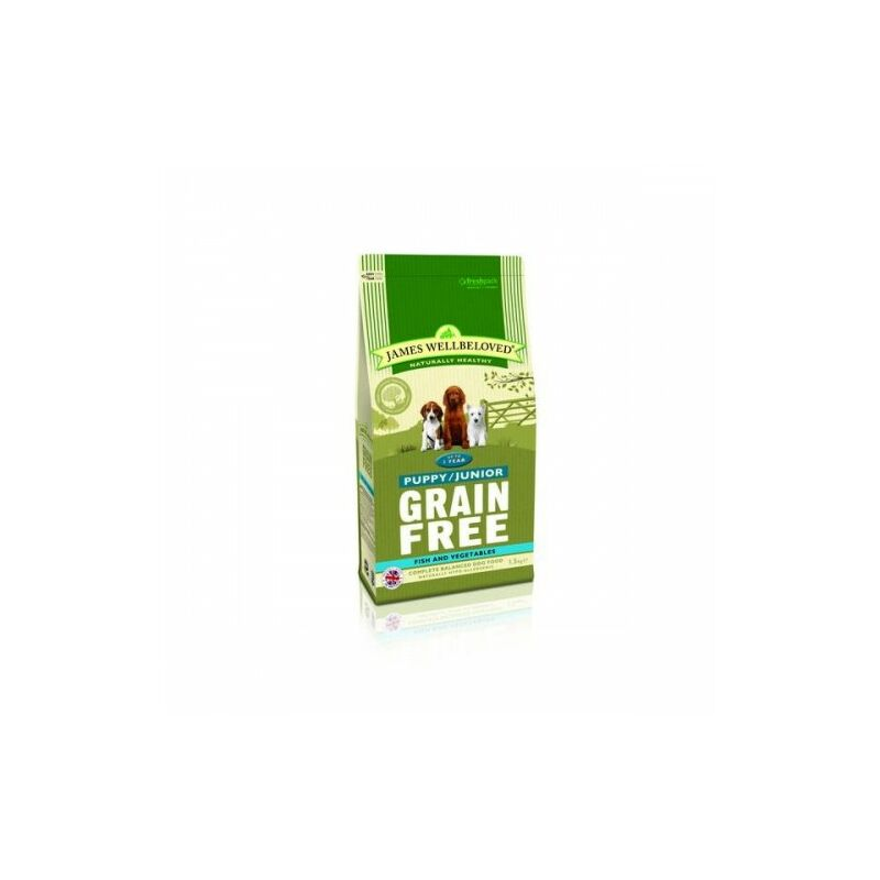 Image of Wellbeloved Grain Free Dry Puppy Food (1.5kg) (Fish & Veg) - JAMES WELLBELOVED