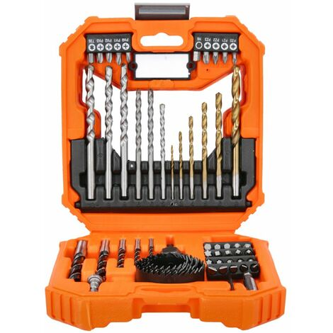 Wellcut 56 pcs Screwdriver & Drill Bit Set With HoleSaw For Multi-purpose