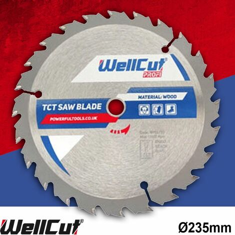 WellCut TCT Saw Blade Profi 235mm x 30T x 35mm Bore Suitable For DW383, 5903R, C9U2