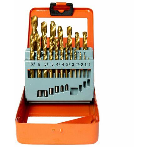WellCut WC-HSS19 1-10mm HSS / MASONRY Drill Bit Set With 19 Pieces