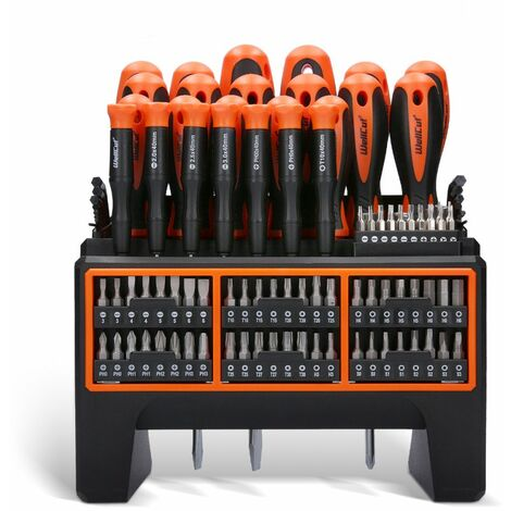 WellCut WC-SDB114S Wall-Mounted Screwdriver Set with 114 Pieces