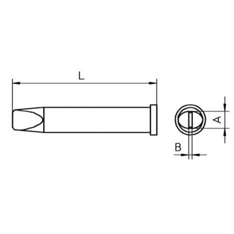 Rundform konisch XT O//Ø 1,0 mm Weller Lötspitze Serie XT