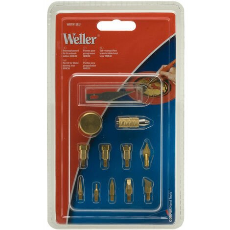 Weller WBTK12EU Tip Kit For Woodburning & Hobby Kit WHK30