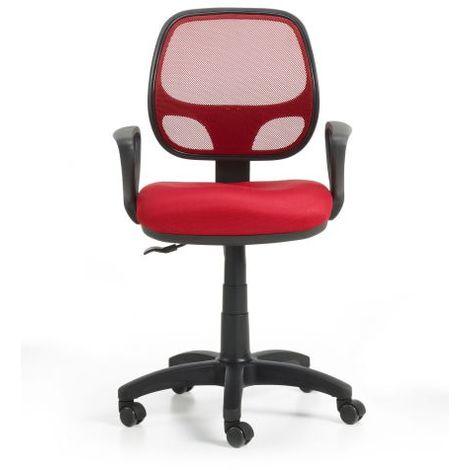 Sillas De Colores Para Oficina.Wellindal Silla Oficina Bari Color Rojo Para Su Hogar Sibr