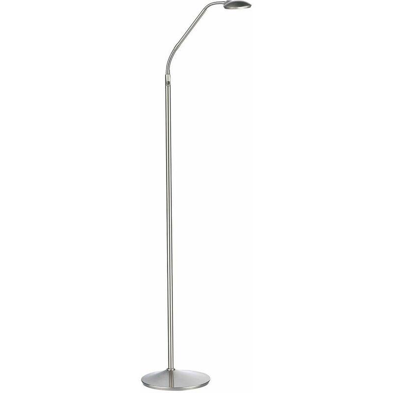 Image of 10-dar Lighting - Wellington floor lamp satin chrome 1 light
