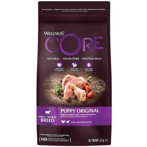 Wellness CORE - Croquettes Puppy Dinde et Poulet pour Chiot - 1,5Kg