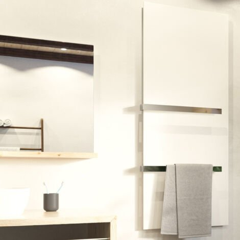 """main image of """"Welltherm Infrared Electric Bathroom Heater / White Slimline Wall Mounted, Splash Proof"""""""