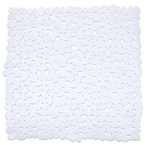 WENKO - 20277 - Alfombra ducha Paradise Blanco 54x54 cms.