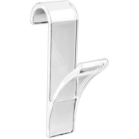 WENKO - 4468161 - Colgador transparente para radiador calienta toallas