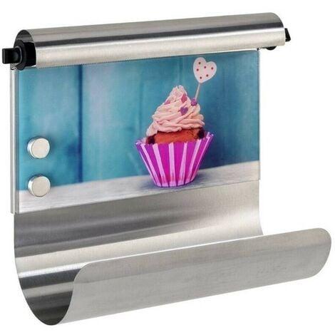 WENKO - 53500 - Portarrollos doble mural magnetico Cupcake