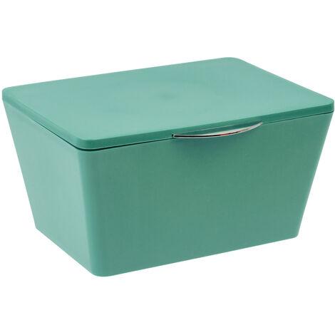 WENKO Aufbewahrungsbox Kleiderbox Deckel Korb Kiste Lagerbox Badkorb Brasil Grün