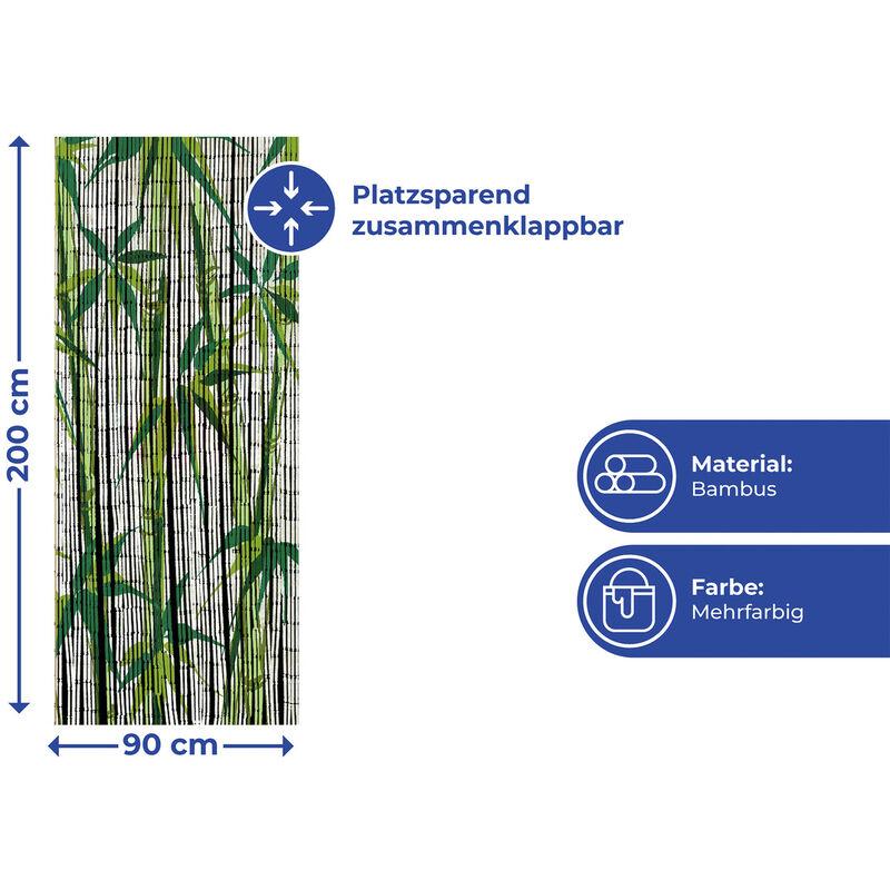 Türvorhang Fliegenschutz Bambusvorhang Dekovorhang Vorhang Bamboo 90x200