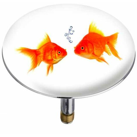 WENKO Bouchon d'évier Pluggy® XXL Fishes