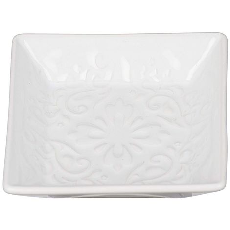 Wenko Cordoba White Ceramic Soap Dish