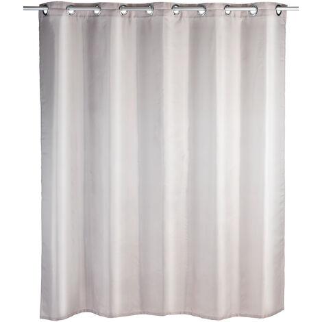 WENKO Duschvorhang Comfort Flex Taupe, 180 x 200 cm Vorhang Vorhänge Dusch-Vorhänge