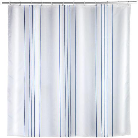 WENKO Duschvorhang Linen Blue