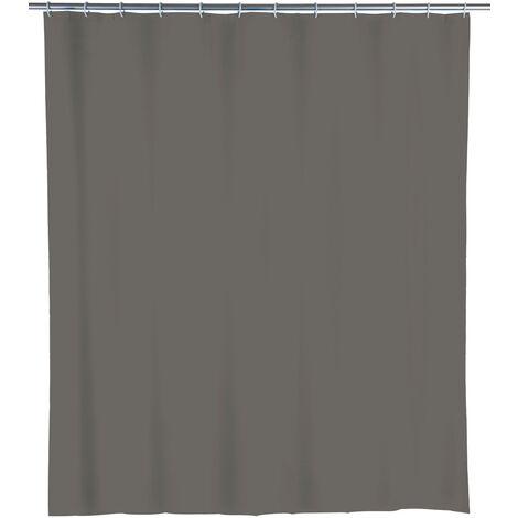 WENKO Duschvorhang Mouse Grey Dusch-Vorhänge Wannenvorhang Badewannenvorhang