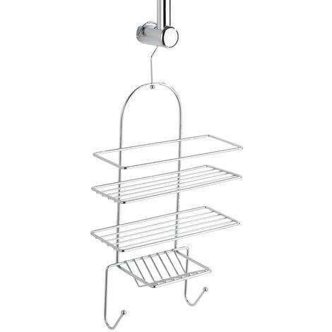WENKO Exklusiv Duschdiener mit 2 Ablagen Regal Badezimmer Badezimmer Bad