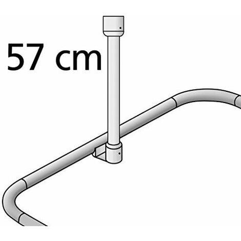 Wenko Fixation plafond pour colonne de douche télescopique Chromé Diamètre 25 mm Longueur 57 cm