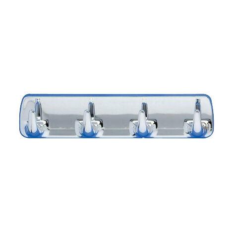 WENKO Hakenleiste Chrom Handtuch aufhängen Badezimmer-Accessoires Haken  Badezimmer