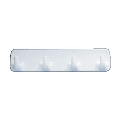 WENKO Hakenleiste Weiß Handtuch aufhängen Badezimmer-Accessoires Haken Badezimmer