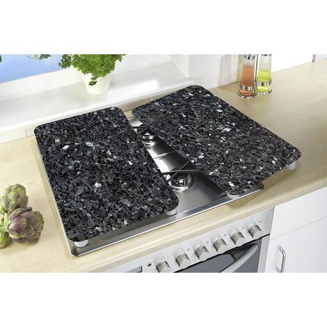 WENKO Herdabdeckplatte Universal Blauer Marmor