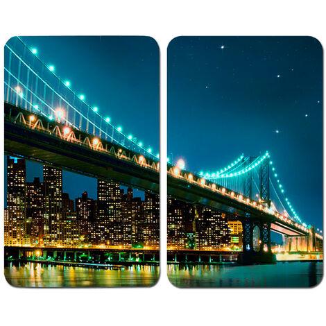 WENKO Herdabdeckplatte Universal Brooklyn Bridge Herdabdeckung Ceranfeld Elektroherd