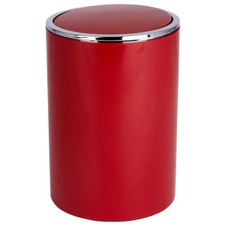 Wenko Inca Red Swing Cover Bin