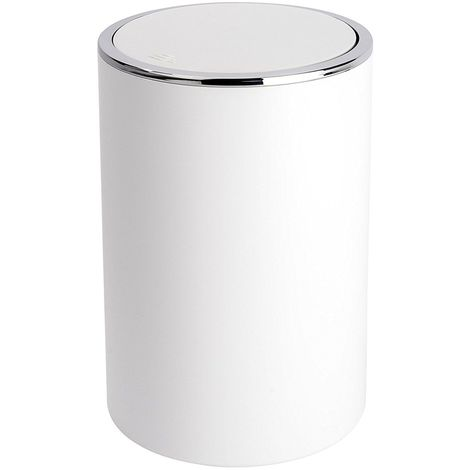 Wenko Inca White Swing Cover Bin 5L