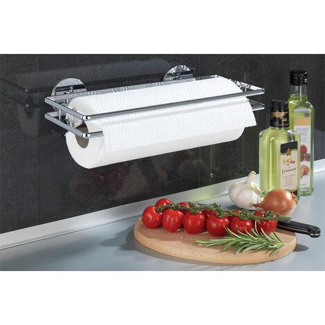 WENKO Küchenrollenhalter Style Rollen-halter Küchenablage Folienspender Aufhängeleiste
