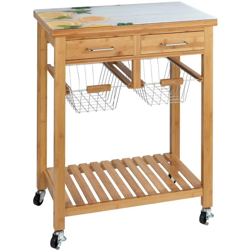 Küchenwagen Holz Servierwagen Küchenrollwagen Rollwagen Küchen Wagen - Wenko