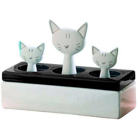 WENKO Luftbefeuchter Katzenfamilie Fensterbank Luftbefeuchter  Raumbefeuchter Heizung