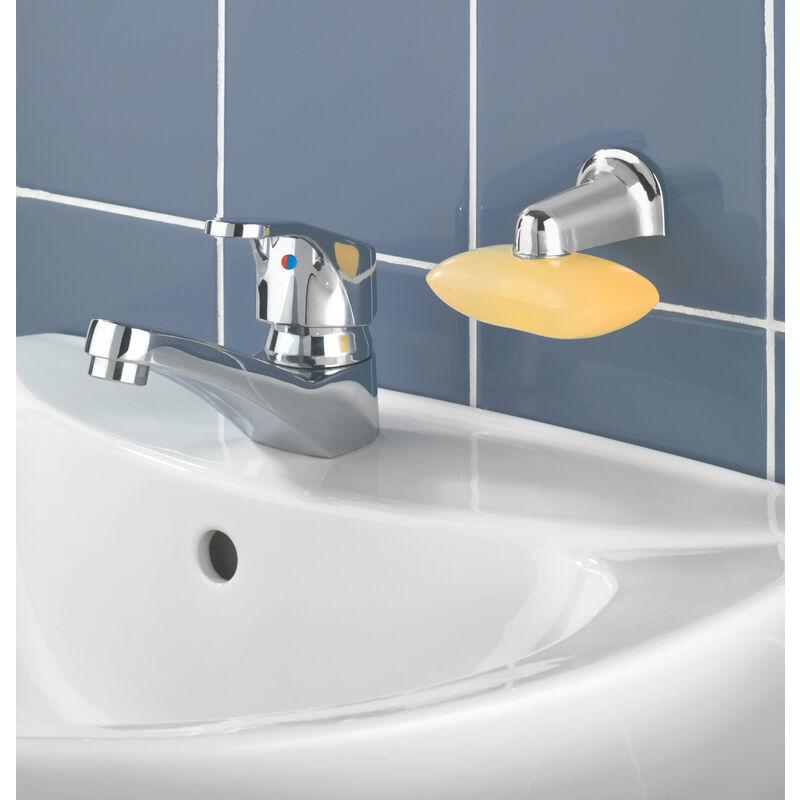 WENKO Magnet-Seifenhalter Chrom Seifenablage Bad-Accessoires Badezimmer Bad  Seife