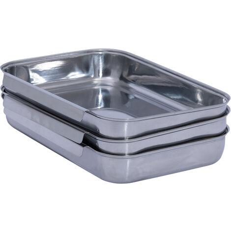 WENKO Panier-Set, 3-teilig Panierset Panierhilfe Panierschalen Panadehilfe Küche