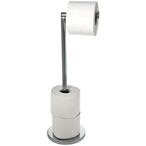 Wenko Porte-papier WC 2en1, acier inoxydable