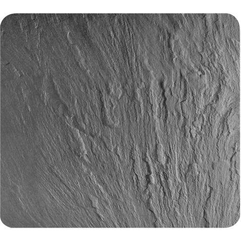 Wenko Protection 3 en 1, planche à découper, plan de travail, en verre aspect ardoise