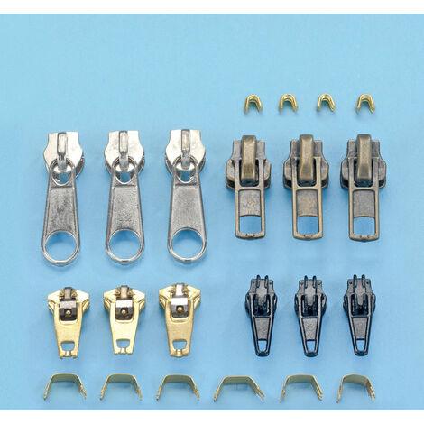 WENKO Reißverschluss-Reparatur-Set, 22-teilig Zubehör Reißverschlusshilfe