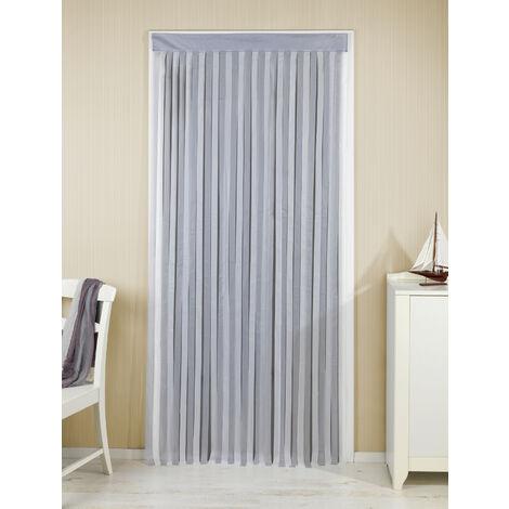 Wenko Rideau de porte gris et blanc