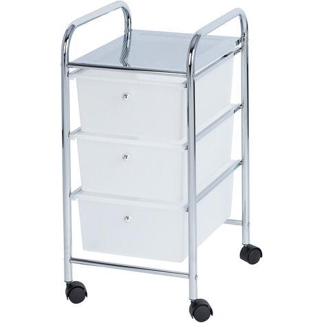 Rollwagen mit 3 Schubladen Haushalt Bad WC Regal Rollregal 33x65,5x39cm
