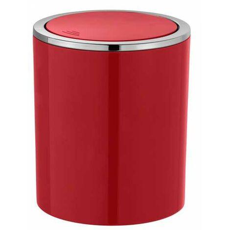 Wenko 23932100 Schwingdeckeleimer Inca Red 14 x 16.8 x 14 cm Abfallbeh/älter mit Schwingdeckel Fassungsverm/ögen: 2 L Rot