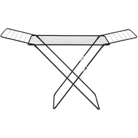 WENKO Séchoir a linge pliable, étendoir à linge, Champion, usage intérieur et extérieur