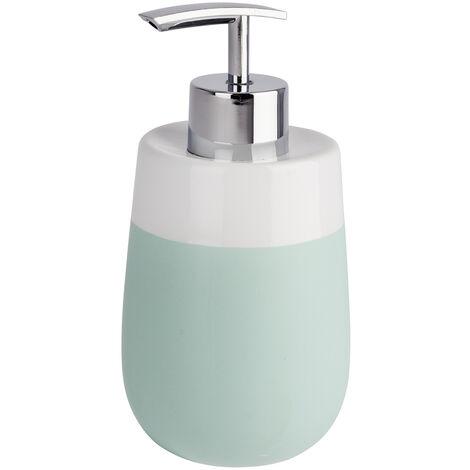 WENKO Seifenspender Malta Mint/Weiß Duschlotion-Spender Badezimmer-Spender