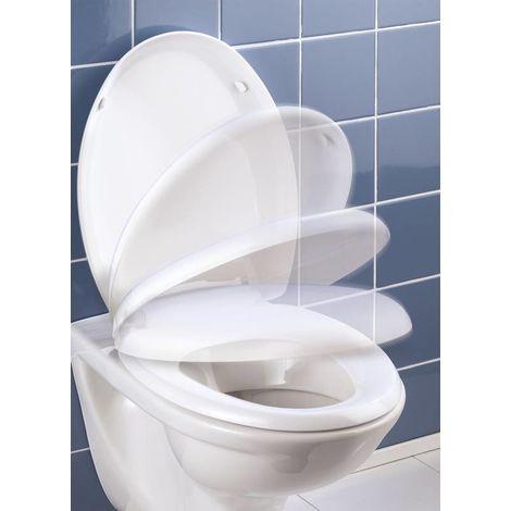Wenko Siège de WC antibactérien avec mécanisme de fermeture en douceur