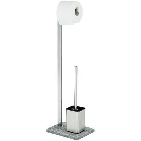 WENKO Stand Toilettenbürste Granit Toilettenbürstenhalter Toilette Klobürste