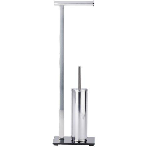 WENKO Toilettenbürste Onyx Klobürste WC-Ständer Standgarnitur WC-bürste