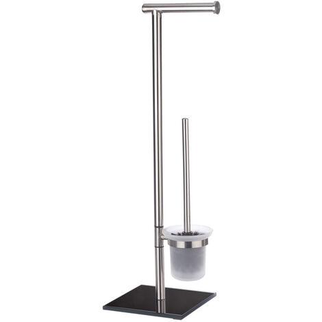 WENKO Stand Toilettenbürste Lima Toilettenbürstenhalter Toilette Klobürste WC-Ständer