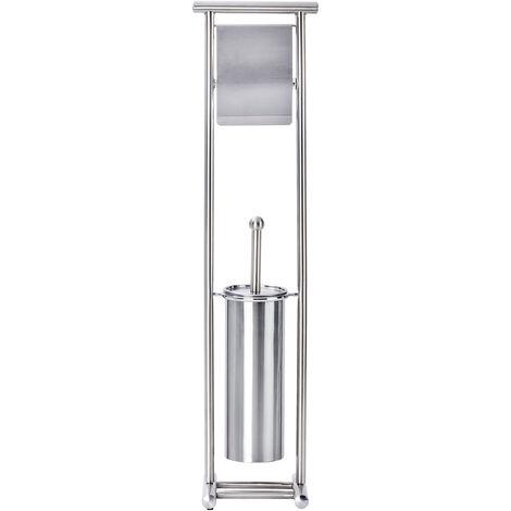 WENKO Stand Toilettenbürste Lioni Toilettenbürstenhalter Toilette Klobürste WC-Ständer