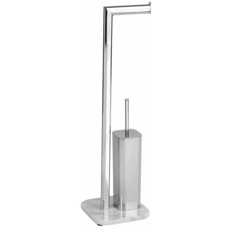 WENKO Stand Toilettenbürste Onyx Toilettenbürstenhalter Toilette Klobürste WC-Ständer